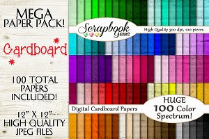 100 Colors Cardboard Texture Papers
