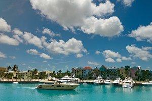 Boat pier in Bahamas