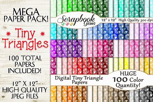 100 Colors Tiny Triangle Papers
