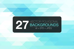 27 polygonal vector backgrounds