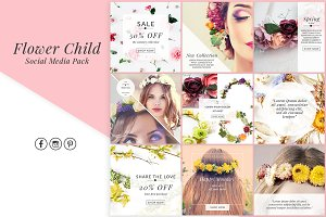Social Media Graphics Flower Child