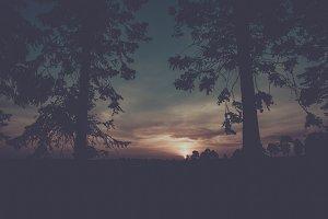Vintage Australia Sunset