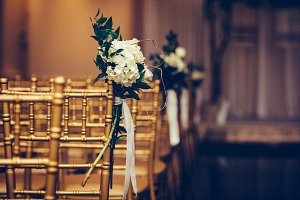 Floristic design on wedding ceremony