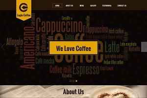 Login Coffee - One page template