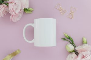 Pink Styled Stock Photo Mug Mockup