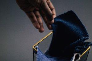 Masculine Denim Fabric Swatch
