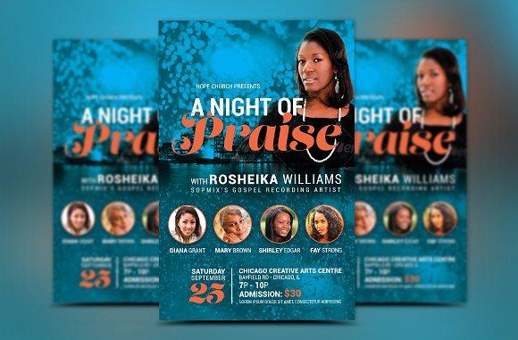 worship concert church flyer flyer templates creative market