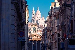 Sacre-Coeur Basilica in the morning, Paris, France