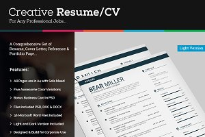CV/Resume Set Template with MS Word