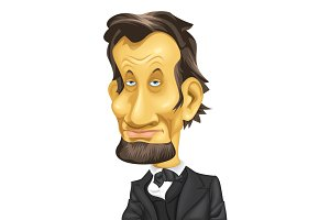Caricature US President A. Lincoln