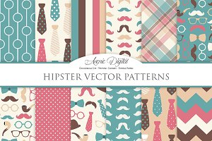 Gentleman - Hipster Digital Papers