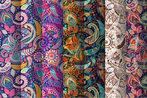 7 Floral Paisley Patterns