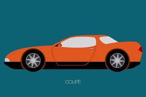 vector european car illustration