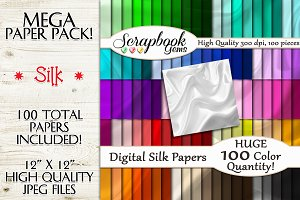 100 Colors Silk Texture Papers