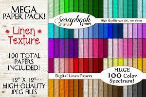 100 Colors Linen Texture Papers
