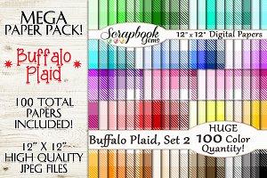 100 Colors Plaid Papers, Set 2