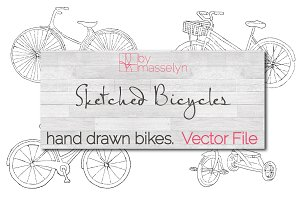Sketched Bicycles (Vector)