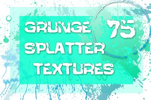 Set of 75 grunge drops textures