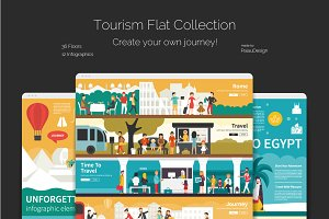 Tourism Flat Collection