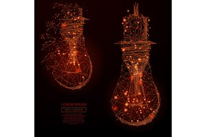 lamp bulb flame