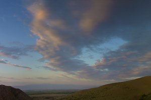 Dusk sky panorama