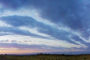 Dusk sky panorama 2