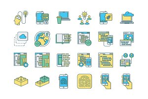 57 Web & Mobile Development Icons