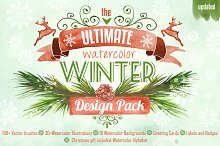 Watercolor Winter Design Pack