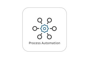 Process Automation Icon. Business Concept. Flat Design.