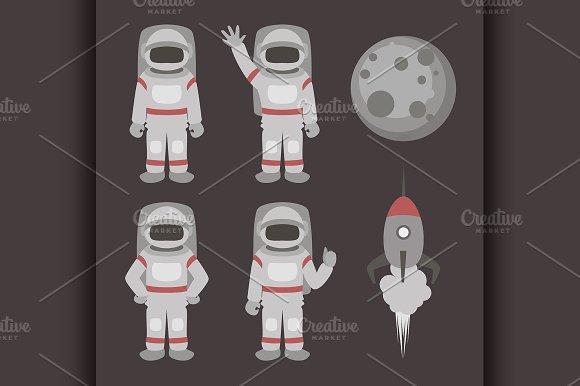 Astronauts characters set
