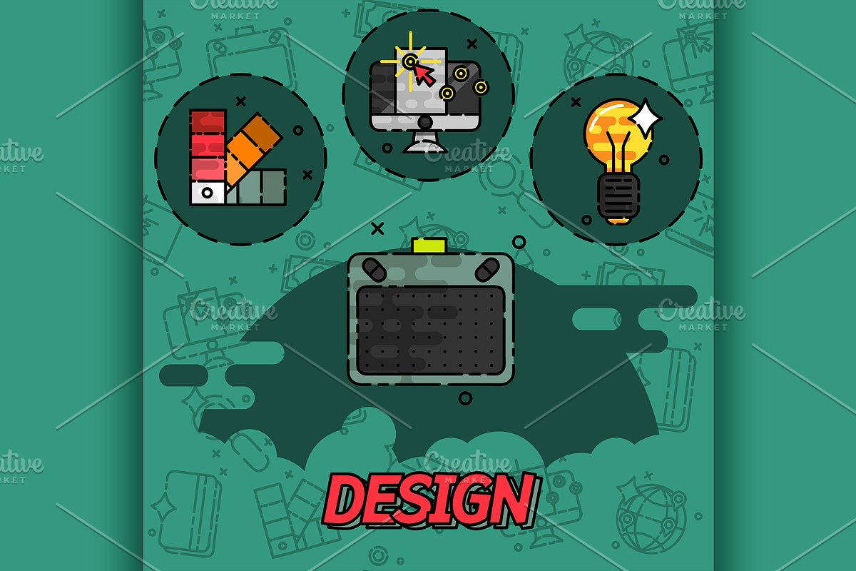 Design flat concept icons