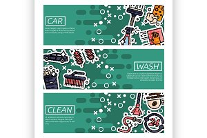 Banners about car wash