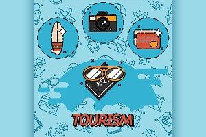 Tourism flat concept icons