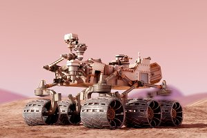 Curiosity Rover Mars 3d model vray