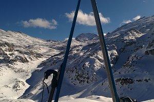 snow landscape,