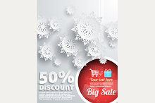 Set Christmas Discount Background