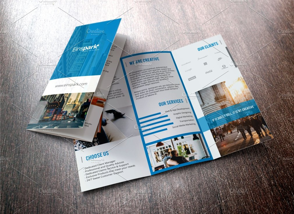 unique brochure templates - multi purpose trifold brochure templates creative market