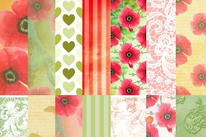 Summer poppy patterns