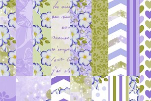 Purple flowers papers