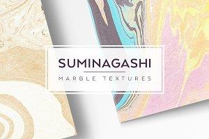 Suminagashi Paper Textures
