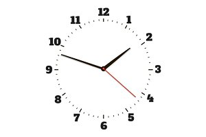Round office clock set