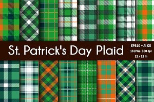 Vector St Patrick's Plaid Patterns