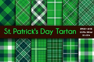 Vector St Patrick's Tartan Patterns