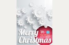 Merry Christmas Background Set