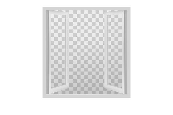 White open window.