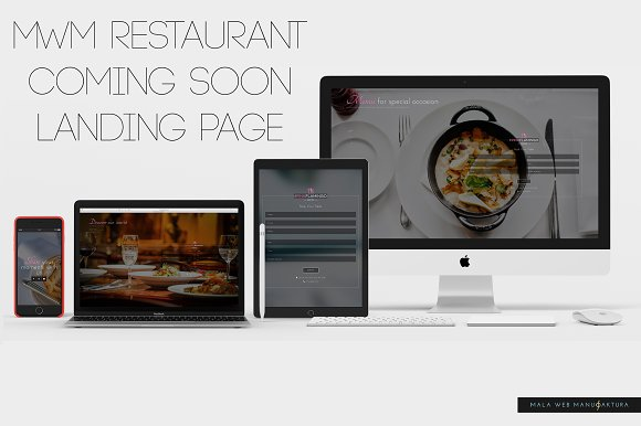 Restaurant Coming Soon Landing Page