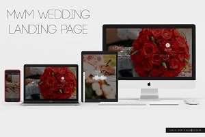 mWm Wedding Landing Page Theme