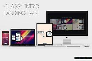 mWm Classy Intro Landing Page