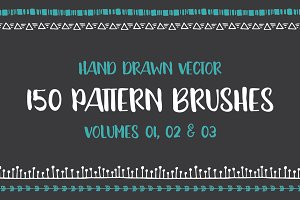 Hand Drawn Pattern Brushes Bundle