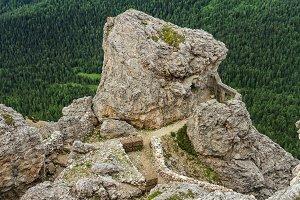 Dolomiti - WW1 ruins in mt Sass de stria